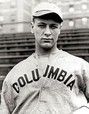 Lou Gehrig in Columbia uniform, 1921