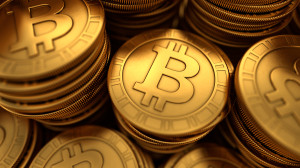 Digital Render of Bitcoin