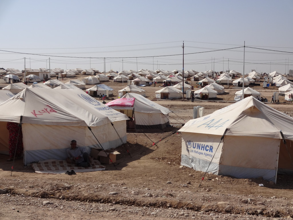 A refugee camp in iraq