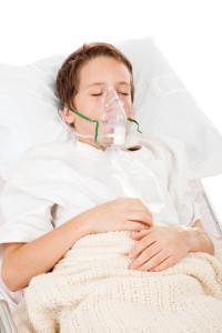 boy in hospital - pneumonia