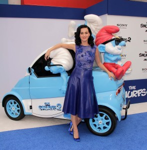 "Katy Perry at the ""The Smurfs 2"" Los Angeles Premiere, Village T"