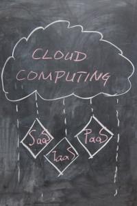 cloud computing concept - chalk